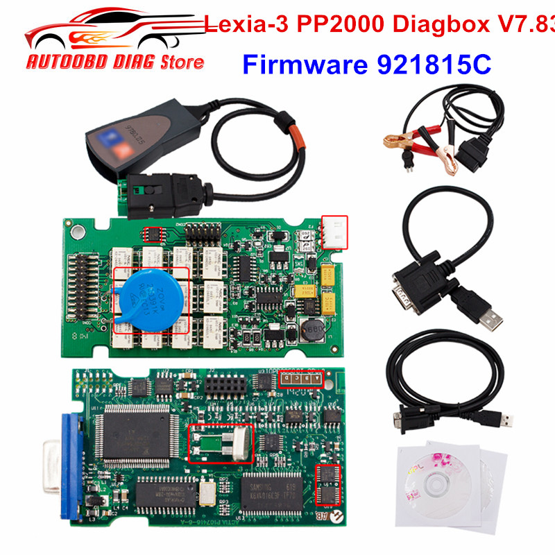Diagnostic-Tool PSA Lexia3 PP2000 Diagbox Evolution OBD2 Firmware XS V7.83 921815C Ce title=