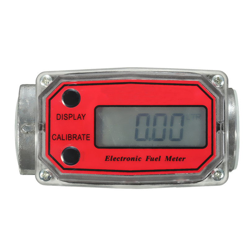 1 Digital Oval Gear For Turbine Flowmeter Kerosene Fuel Flow Meter 15-120L / Min Aluminium Alloy Durable<br>
