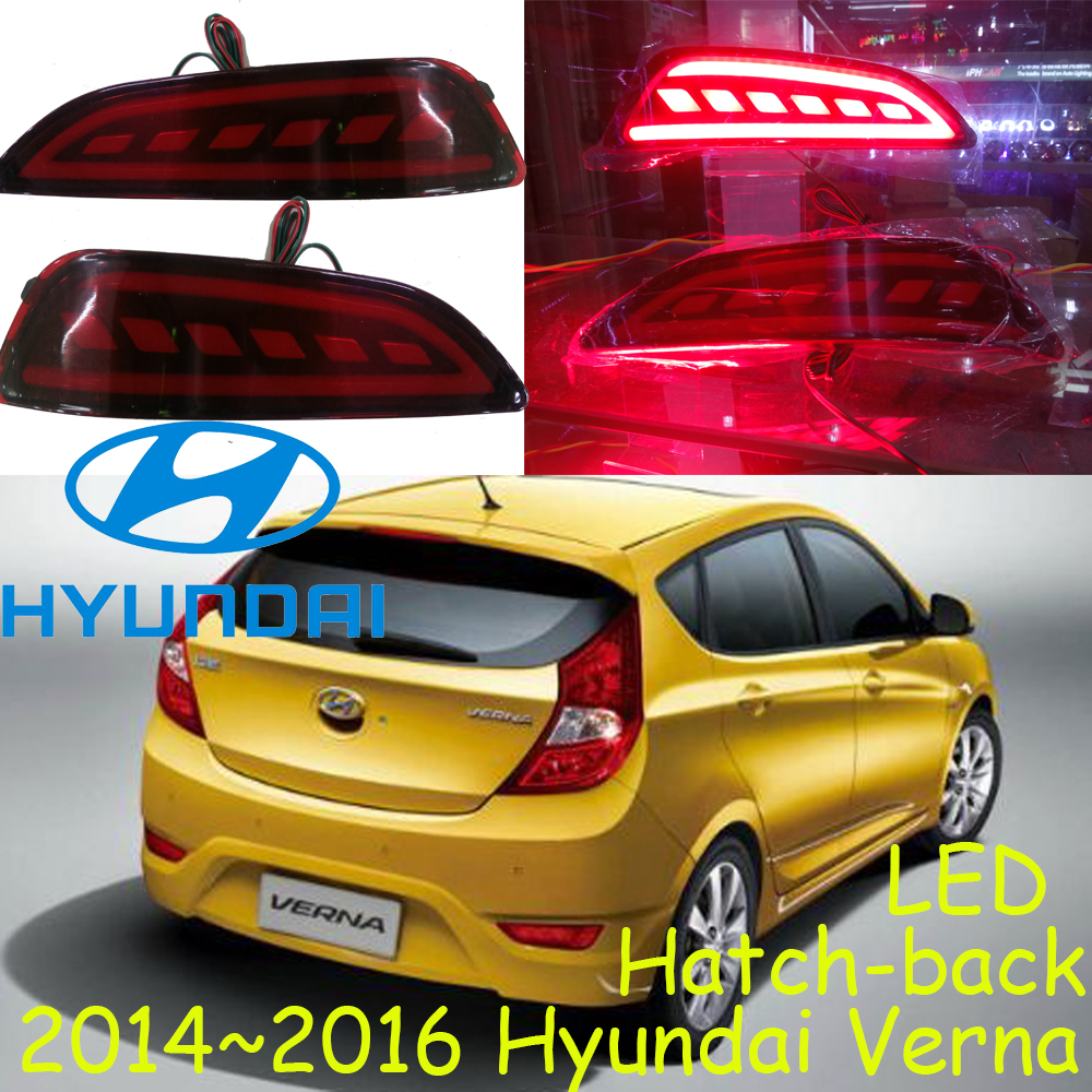 Verna rear light,Hatch-back car!LED,2014~2016,car-styling,verna fog light,chrome,IX45,santa fe,Free ship!solaris taillight<br>