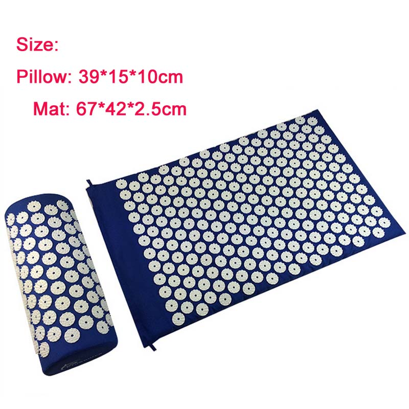 Relieve Stress Pain Massager (appro.67*42cm)Massage cushion Acupressure Mat cupuncture Spike Yoga Mat with Pillow<br><br>Aliexpress