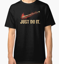 Print Cotton High Quality  Short Sleeve Printing O-Neck Mens Negan Lucille Walking Dead - Just Do It Shirt
