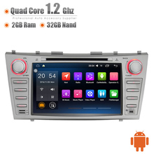 Android 8 Inch Car Dash GPS 3G WIFI Quad Core 32GB DVR OBD Bluetooth Touch Screen Head Unit Stereos for Toyota Camry Aurion 07(China)