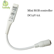 Tanbaby mini RGB led controller DC12V 6A rgb control for strip light 19 Dynamic Modes and 20 Static Color