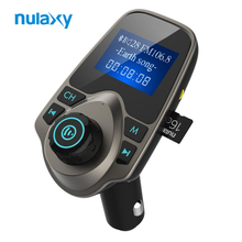 Nulaxy Car MP3 Player Bluetooth FM Transmitter Hands-free Car Kit Audio MP3 Modulator W 1.44 Inch Display 2.1A USB Car Charger(China)