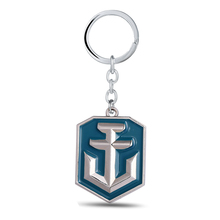 Julie Jewelry World of Warships Game Logo Metal Keychains For Fans New Arrival Game Series Key Rings Llaveros Wholesale   Retail
