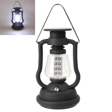Hot Sale hot Super Bright Outdoor 16 LEDs Solar Panel Hand Crank Dynamo Lamp Camping Lantern(China)