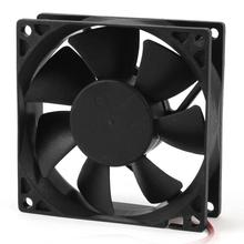 CAA Hot 80mm DC 12V 2pin PC Computer Desktop Case CPU Cooler Cooling Fan