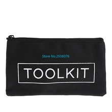 Waterproof Tool Kit Bag 600D Oxford Cloth Tool Bag Zipper Storage Instrument Case 19x11cm(China)