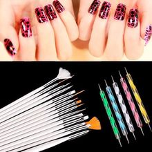20 Pcs Nails Art Tool Polish Drawing Brushes Marbleizing Desires Dotting Tools Patinting Pens For Nail Design Manicure