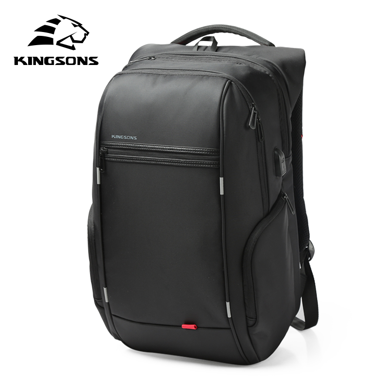 Kingsons KS3140 Men Women Laptop Backpack with USB Charge Multi-function Waterproof Business Leisure Travel School Bag Backpack<br>