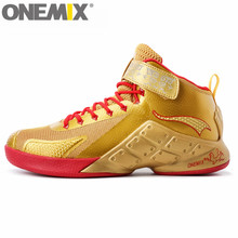 onemix Men Authentic Basketball Shoes Ankle Boots Style Culture for Women Breathable Authletic Trainer High-Top Rubber Sneakers(China)