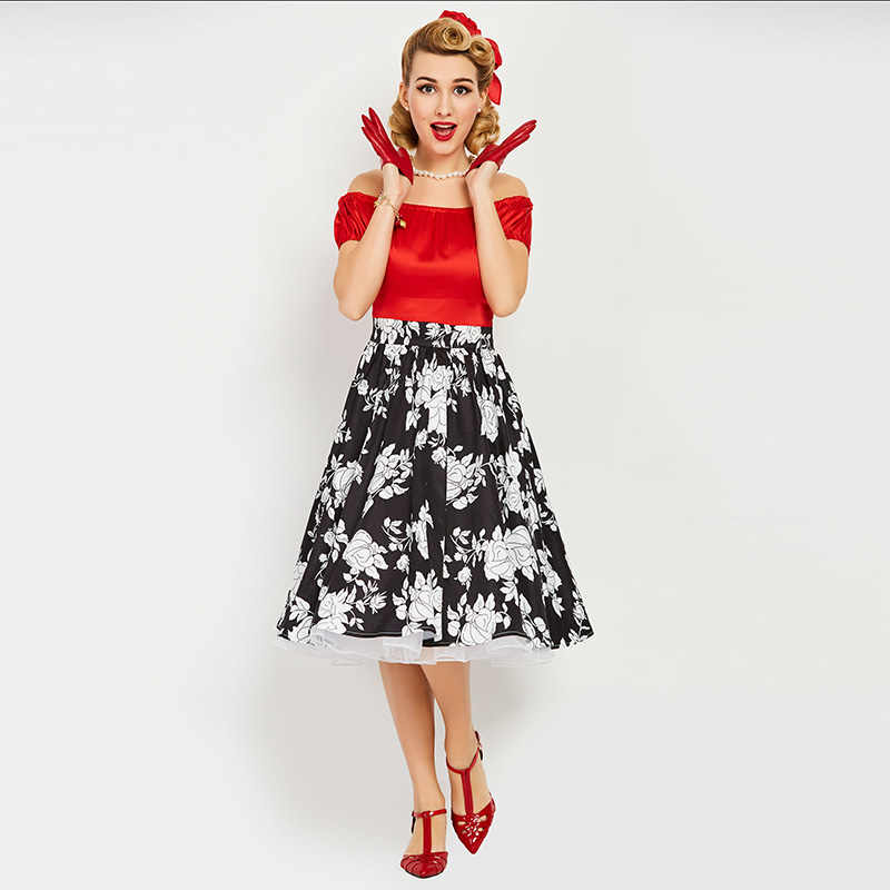 431d2adad31 Detail Feedback Questions about Sisjuly Vintage 1950s 60s Mid Calf Short  Sleeve Red Women Slash Neck Ball Dress 2018 Summer Female Party Dress Retro  Dresses ...