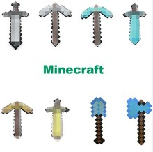 Free Shipping 1Pcs/set Minecraft Diamond Sword and Pickaxe EVA Foam Weapons Weapons Model Toys for Kids Gifts Christmas