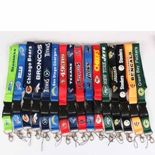 32 Football Teams Keychain Lanyards Neck Strap For ID Pass Card Badge Gym Key / Mobile Phone USB Holder DIY Hang Rope Necklaces(China)