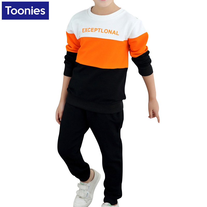 Fashion Kids Clothes Sets Cotton Long Sleeve Baby Boy Sports Suits Falland Spring Leisure Teenage Boys Clothing 5-14 T<br><br>Aliexpress