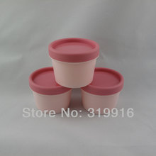 100g x 20 empty  cylinder mask PP bottle, round facial mask cream jars containers refillable jars supplier empty cosmetic pot