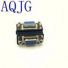 90 Degree Right Angle 15 Pni VGA SVGA Female to Female Converter Angle Adapter Drop Shipping(China)
