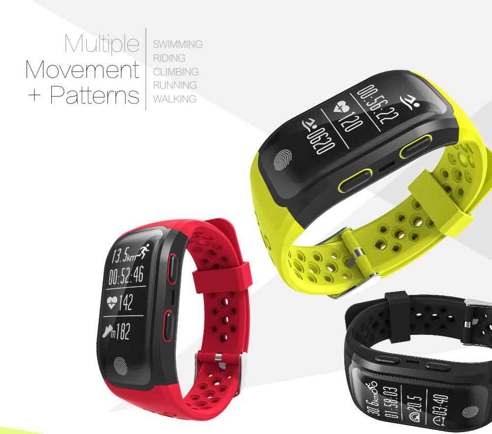 LEMDIOE Heart Rate Smart Wristband GPS Track Record Smart Band 2 Sleep Pedometer Bracelet Fitness Tracker Smart Watch Relogio 6