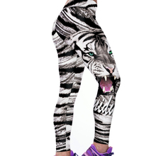 2017 Sexy Hot Women Animal Tiger Pattern Elasticity Stretch Fitness Pants Workout Leggings Women Stripped Jeggings