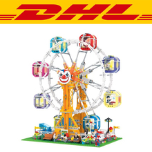 2017 New 1506Pcs City series modern paradise LED Carousel Model Building Kits Blocks Bricks Children Toy For Compatible Gift
