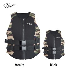 Adults Kids Life Vest Jacket Life Neoprene Floating Life Jacket Parents and Kids Children Rafting Surfing Swimming Life Vest(China)
