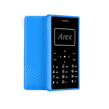 Original AIEK X7 Ultra Thin credit Card cell Phone Low Radiation mini pocket students personality children mobile phone 4.8mm