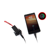 free shipping new Car 2.1A Dual USB Port Socket Cellphone Charger + Audio Input For Nissan
