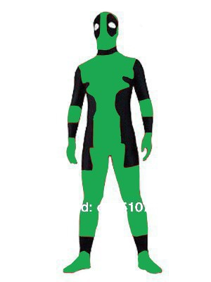 New Green Deadpool-Deadpool Lycra Spandex Zentai Suit Deadpool Costume