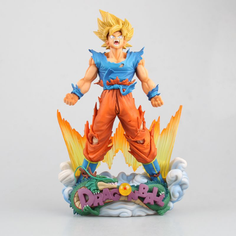 23cm Japanese Dragon Ball Z Super Saiyan Limited Edition Son Goku PVC Action Figures Collectible Model Toys Gifts<br>