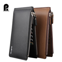 2017 New designer Real pu leather wallet men wallets luxury brand card holder phone pocket men's leather wallet carteras cuzdan