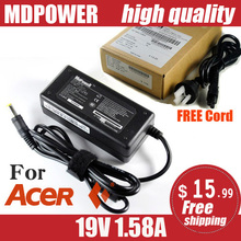 MDPOWER For netbook Acer ACER 19V 1.58A laptop power adapter charger cord