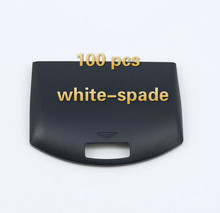 100 pieces /lot Black Back Battery Replacement Cover Door Case for Sony PSP 1000 1001 Fat