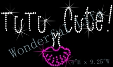 Free shipping  and free gift TuTu Rhinestone Iron On Transfer rhinestone iron on transfers