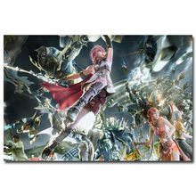 Lightning - Final Fantasy XIII Art Silk Fabric Poster Print 13x20 24x36 inch Hot Game Pictures for Living Room Wall Decor 035