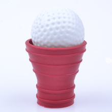 2pcs+Red Golf Ball Pick Up Picker Retriever Grabber Suction Cup For Putter