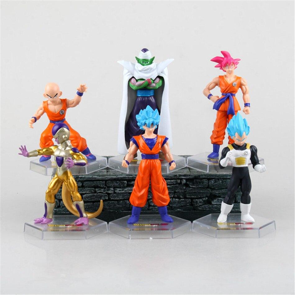 6pcs/set WCF God Dragon Ball Gold Frieza GOHAN Vegeta Super Crystal Balls Gotenks Saiyan Son 10CM PVC Action Figure Collectible<br><br>Aliexpress