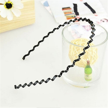 Hot Wavy Black Head Band Summer style Metal Alloy Hair Accessory