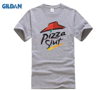 Buy Pizza Slut Spoof Parody Funny T-Shirt 100% Premium Cotton Gift Fat Present Printed Men T Shirt Short Sleeve Funny Tee Shirts