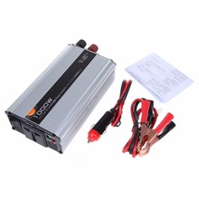 Car Truck DC 12V to AC 220V 1000W Power Inverter Charger Converter Adapter with Crimper Car Charger Adapter