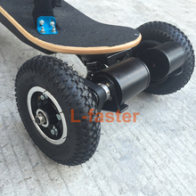 Electric Skateboard Truck Off Road Skateboard Belt Drive Truck 4 Wheel Longboard Mountains Skateboard 11 Inch Truck 8 Inch Wheel