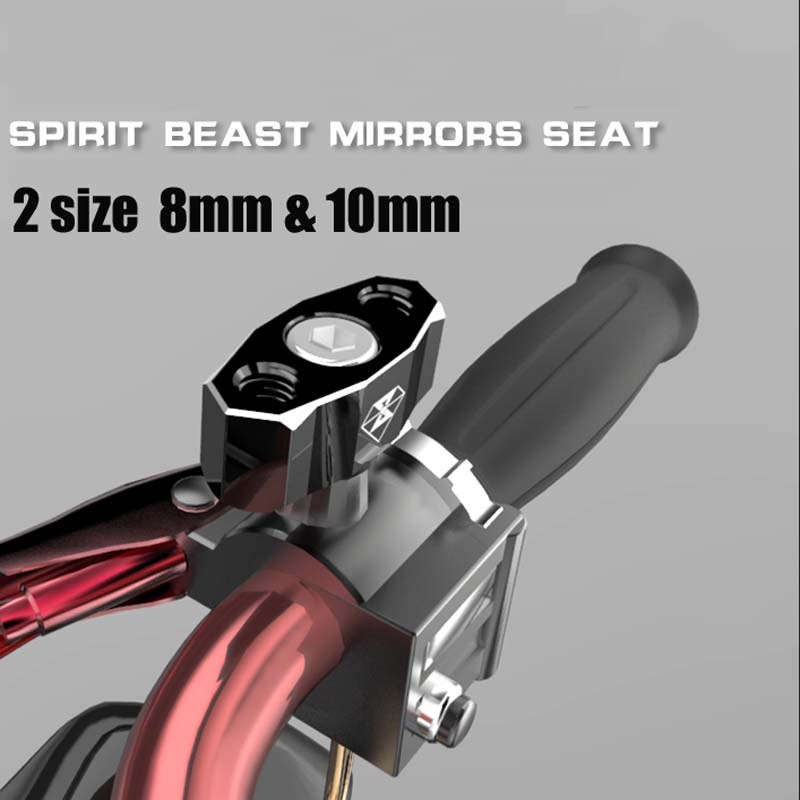 Motorcycle scooter decorative mirror base modification parts 8mm and 10mm two size back mirror base<br><br>Aliexpress