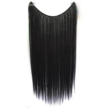 Soloowigs Yaki Straight High Temperature Fiber Women Hair Pieces 22inch 1pieces/set Fish Wire Long Synthetic Hair Extensions(China)