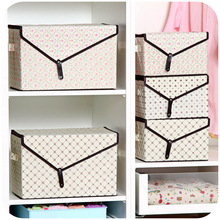 2016 Large sized clothes storage box 2pcs set clothing and toys container sorting box shoe box closet organizer
