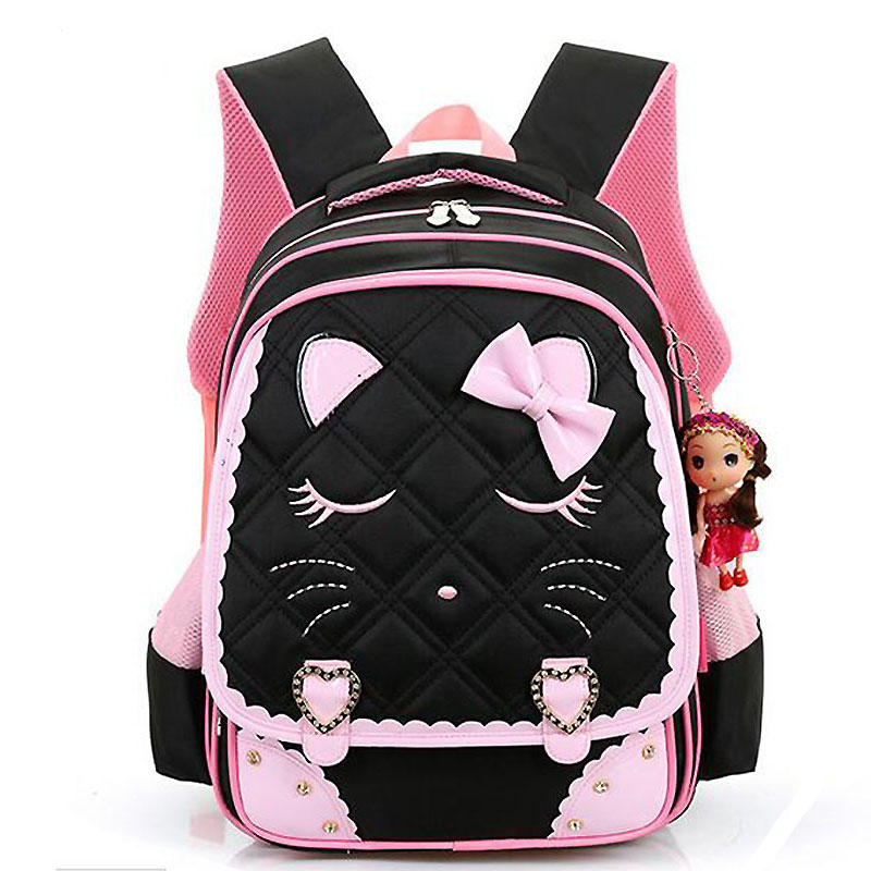 backpack Cartoon School Bags Children Backpacks Girls Cute Cat Bags Mochila Infantil Princess Backpack big capacitity LM3988<br>