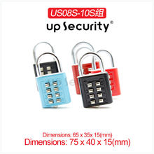 10 dial combination lock High Quality Travel Luggage Suitcase Combination Lock Padlocks Case Bag Password Digit Code Bag Locks