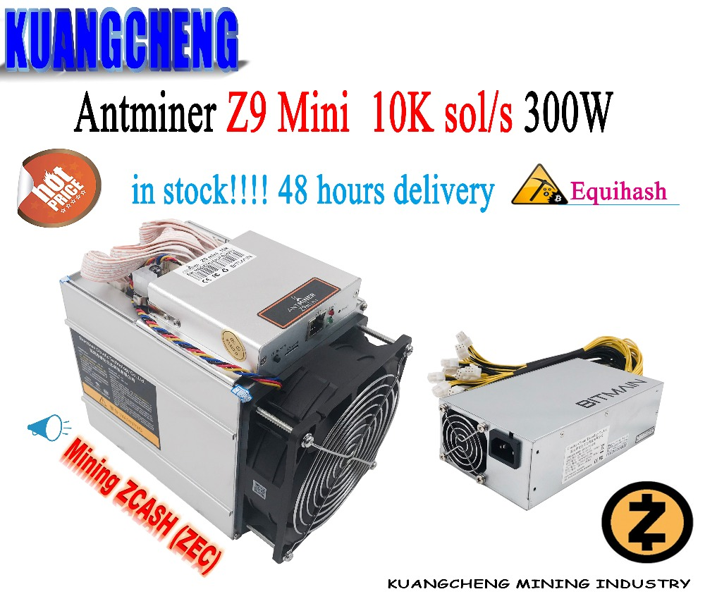 KUANGCHENG AntMiner Z9 mini asic miner Equihash ZEC Mining 10k 300w APW3 psu Low noise Home/School/Office/Miner Make zcash BTC