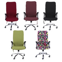 Computer Chair Covers L/M/S Removable Stretch Swivel Office Cadeira Computer Chairs Covers Office Armchair Seat Slipcovers(Hong Kong)