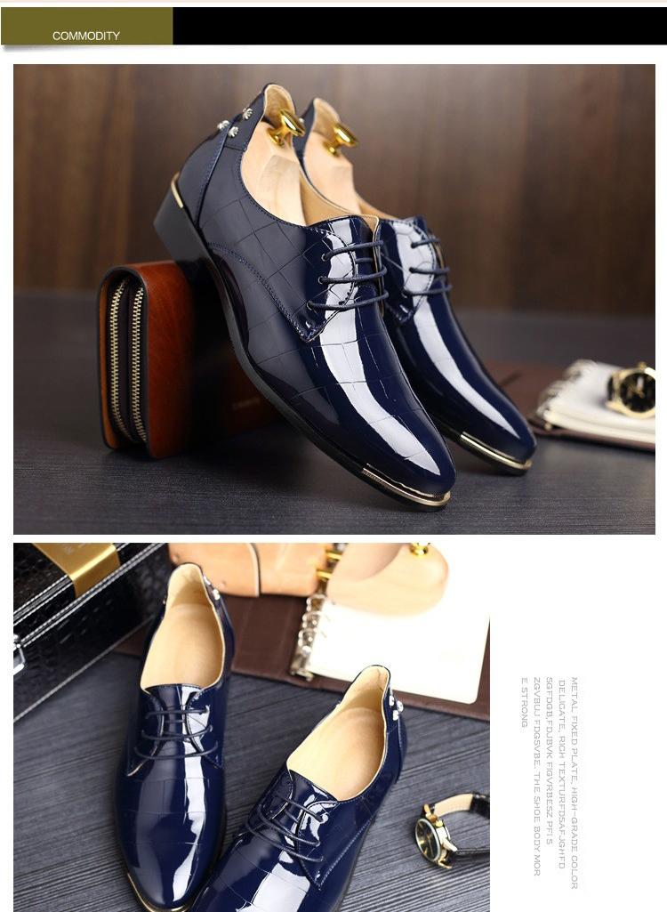 Men shoes 16 new fashion PU leather casual men shoes 5