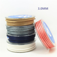 3 meters/piece 3MM diameter Waxed Thread Polyester Cord String Strap Wholesale Necklace Rope Bead NO.1~14