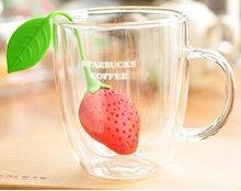 1PCS Health Silicone Strawberry Tea Infuser Filter Bay Loose Leaf Herbal Spice Ball Tools(China)